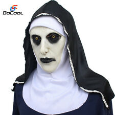 Roolina The Nun Valak Mask Deluxe Latex Scary Full Head Halloween Cosplay Costum