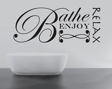 BIG RELAX BATHE ENJOY  Quote Wall Stickers Art BATHROOM Removable Decals DIY
