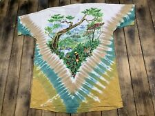 Xl deadstock vtg 90s '92 Liquid Blue tie dye t shirt nature earth all over print