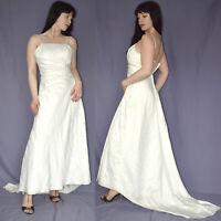 Strass à Fleurs au Niveau de la Robe Mariée * Gr. S (36) * Bretelles Mariée, Bal