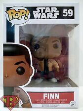 "FINN Star Wars The Force Awakens Pop Movies 4"" Vinyl Bobble Head Figure #59 2015"