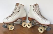 New listing Vintage Riedell Roller Skates Snyder's Super Deluxe Plate Rollerbones Wheels 6.5