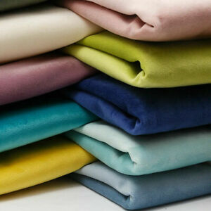 Plush Velvet Upholstery Fabric Material Soft Plain Cushion Pillow Curtain Sofa