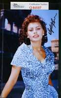 Sophia Loren Jsa Coa Hand Signed 4x6 Photo Authenticated Autograph 6