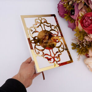"""Custom Mirror Signature Wedding Guest Book Personalized White Blank Sheets 10.4"""""""