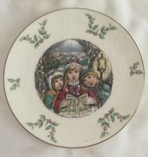 Vintage Royal Doulton 1981 Christmas Plate Porcelain Children Caroling Mistletoe