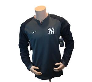 Nike MLB NY Yankees Charcoal Gray  Thermal Crew Sz Medium NKA6-177N Baseball Men