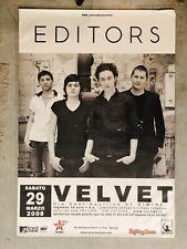 EDITORS original Super Rare Italian 100x70 Cm Tour Poster 2008 Great Conditions