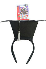 Mini Black Graduation Grad Hat Headband Costume Prop Accessory Celebration