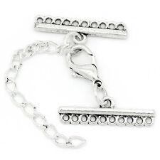 10 fermoirs connecteurs lien mousqueton pr collier bracelet 3.2*2.5CM B27070