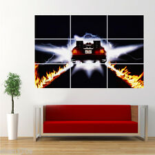 Giant Poster Back to the Future Fire Car Print Wall Art Large B2B3