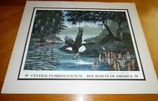 William Rodgers Jr. Boy Scouts of America Eagle Print BSA Signed Numbered 1998