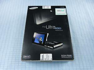 Original Samsung The Ultra Video SGH-F500 Schwarz! Neu & OVP! Ohne Simlock! RAR!