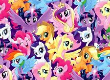 FAT QUARTER  MY LITTLE PONY FABRIC PACKED PONY MAGIC COTTON SPRINGS  HASBRO  FQ