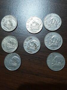 8 Un Peso Mexican Coins World Foreign Coins Mexico:1971-1976