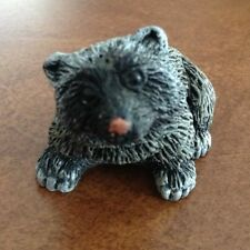 "Adorable ""Holland Arts In Stone Raccoon/Badger? Figurine"""