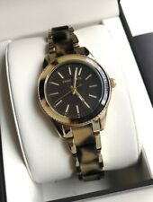 Anne Klein Watch * 3212T0GB Tortoise & Gold Steel for Women COD PayPal