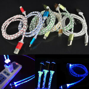 LED Light up Glowing USB Charging Cable for iPhone 5/6/7/8/ Plus X