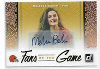 2019 Donruss Football Fans of the Game Autograph Melissa Baker Cleveland Browns