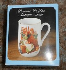 "New Norman Rockwell's Collector's Porcelain Mug ""Dreams in the Antique Shop"""