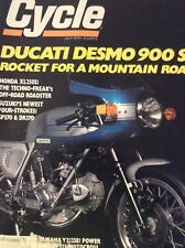 Cycle Magazine Ducati Desmo 900 SS Rocket Honda XL July 1978 121818nonrh