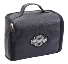 Harley-Davidson Top Grain Leather Bar & Shield Black Toiletry Kit 99508 BLK