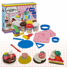 Cake Modelling Play Dough 19pc Kit Tools Accessories Set 4 Tubs Craft Moulding