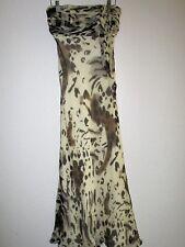HEIDI WEISEL Silk Chiffon Animal Print Halter Dress-Size 4-Beautiful!