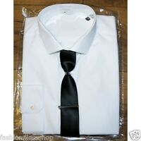 Mens New White ex M&S Shirt Slim Fit. Long Sleeve - SIZE 15 15.5 16 16.5 17.5 18