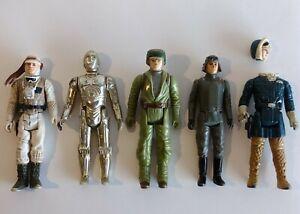Vintage Kenner Star Wars Figures Lot (5) 1977-1983 Luke, C3PO, etc