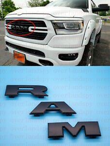2019-2020 Black RAM Front Grille Emblem Nameplate Badge for RAM1500 Mopar