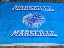Drapeaux flag OLYMPIQUE DE MARSEILLE om signé EQUIPE 2003 - 2004 ultras foot