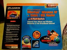 Linksys Etherfast Wireless AP + CABLE/DSL ROUTER  Model: BEFW11S4 4 PORT SWITCH