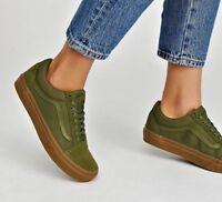 Vans OLD SKOOL Skate Shoes MEN'S Size 9 Winter Moss/Gum