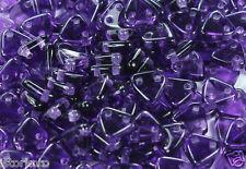 10g Tanzanite CzechMates 2-Hole Triangle Glass Bead Beads 6mm