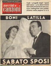 SORRISI E CANZONI TV N° 38 DEL 1958 GINO LATILLA BONI