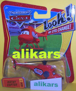 """L1"""" - KATHY COPTER - Helicopter #31 Disney Pixar Mattel Cars plane giocattolo"""