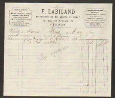 """BESANCON (25) OUTILS pour MACHINES à BOIS """"LOUPYA & Cie / E. LABIGAND Succ"""" 1873"""