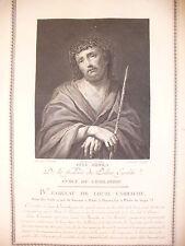 ECCE-HOMO  - 1786 PALAIS ROYALE -  LUIGI CARRACCI