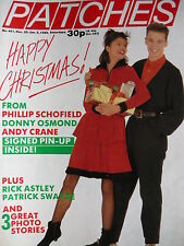 PATCHES MAGAZINE 2ND JAN 1988 - DONNY OSMOND - RICK ASTLEY - PATRICK SWAYZE