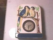 Emil Speck Germany China Lovebirds Shelf Clock
