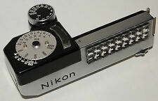 Nikon F clip-on meter, mounts onto plain prism, working, accurate, mint-