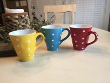 Maxwell Williams Sprinkle Stoneware Coffee Cups / Mugs