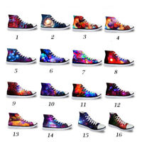 fe085f718ac5 Galaxy High Top Canvas Shoes Women Fashion Flat Shoes Lace-up Sneakers For  Girls