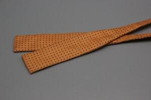 BROOKS BROTHERS Silk Bow Tie. Salmon with Blue Polka Dots.