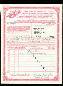 medical Ephemera: NARCOTIC ORDER FORM FROM 1938, US Treasury Dept.