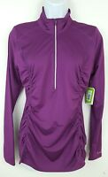 Moving Comfort Purple Velvet Long Sleeve 1/2 Zip Athletic Top Womens Size M