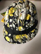 Vera Bradley Newsgirl Hat Dogwood Quilted Cap Onesize Elastic stretch