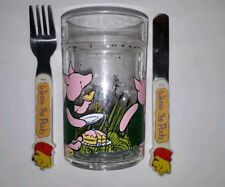Cole & Mason England Winnie The POOH Piglet Cup & Fork & Knife Vintage Childs