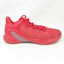 Peak Mens Tony Parker V E73323A Red Grey Running Shoes Lace Up Low Top Size 10.5
